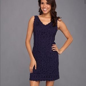 Lilly Pulitzer Reeve Dress Navy Lace Size S